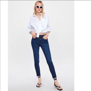 Zara Basics Z1975 Mid Rise Skinny Jeans 10